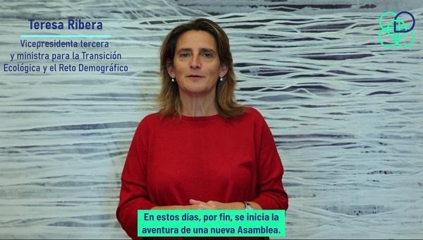 Teresa Ribera da la bienvenida a la Asamblea Ciudadana para el Clima